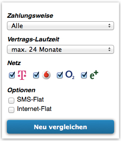 Handy-Tarifvergleich - Allnet Flatrates